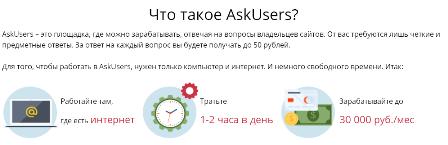 Заработать на ответах: Askusers